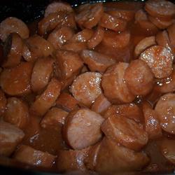 Колбаса в томатном соусе в мультиварке