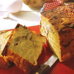 Картофельный пирог с вешенками