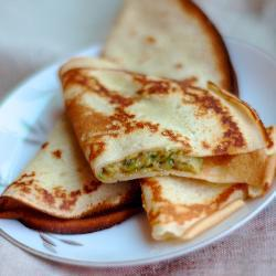 Блины с кабачками и сыром
