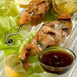 Шашлык из лосося на гриле