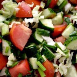 Салат Нежный с летними овощами