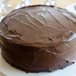 Постный шоколадный торт с кремом из тофу