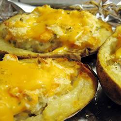 Печеный фаршированный картофель