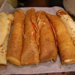 Фаршированные блинчики-пиццы