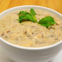Куриный суп-пюре с диким рисом
