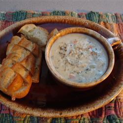 Куриный крем-суп с диким рисом