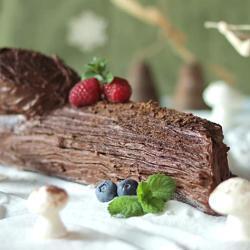 Шоколадное полено
