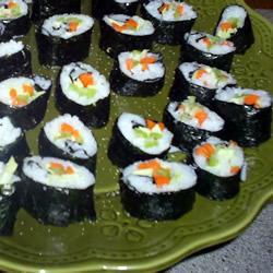 Вегетарианские суши роллы с тофу