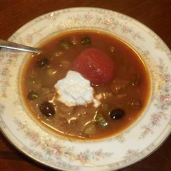 Грибной суп Солянка