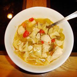Полезный куриный суп с овощами
