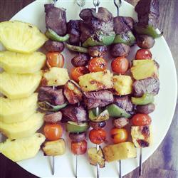 Шашлык из свинины с ананасом