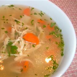 Бабушкин куриный суп с лапшой