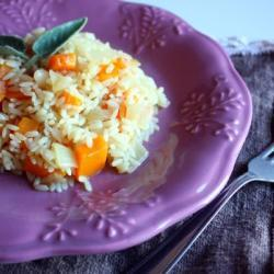 Отварной рис с тыквой