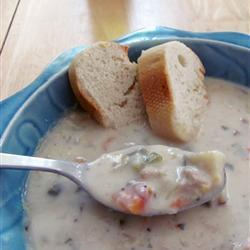 Суп Чаудер из пангасиуса