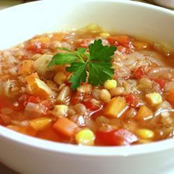 Суп с чечевицей и свежей капустой