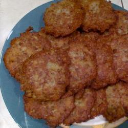 Оладьи из гречки с картофелем