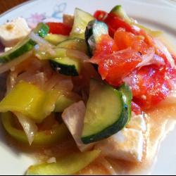 Летний салат с брынзой